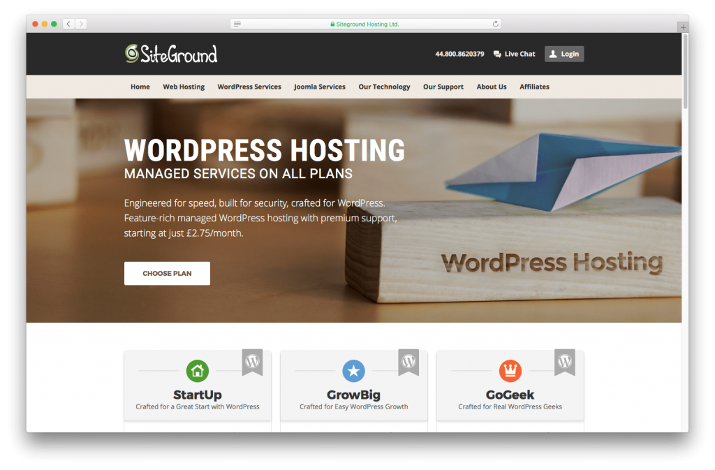 We recommend SiteGround for charity WordPress hosting.