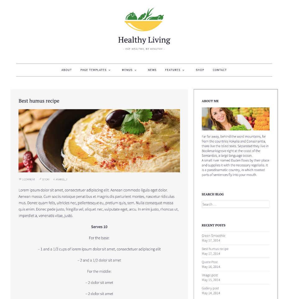 Blogging WordPress Theme