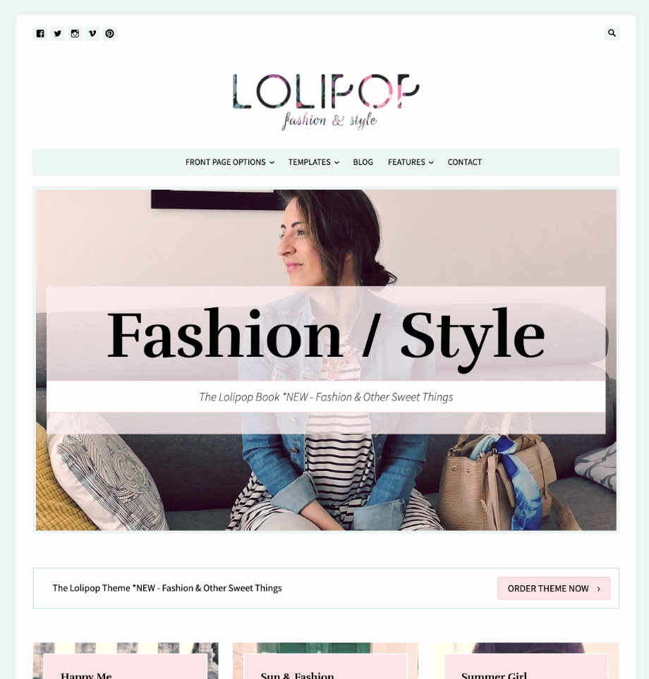 Fashion WordPress Theme