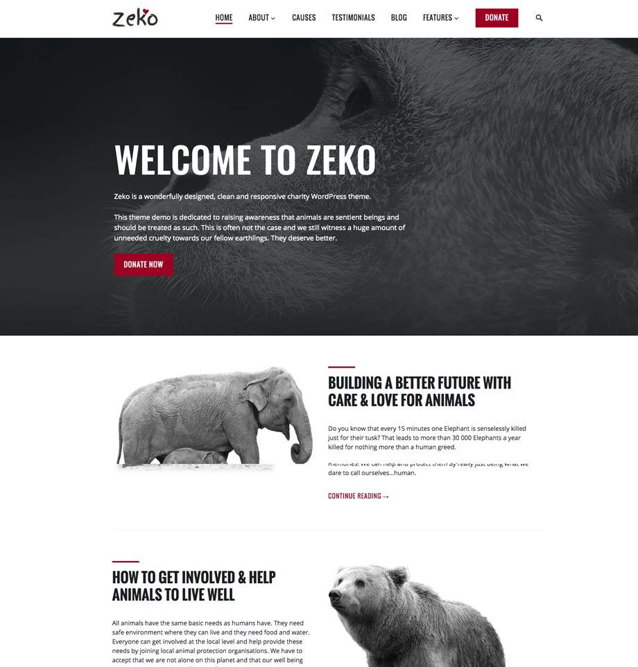 Animals Charity WordPress Theme