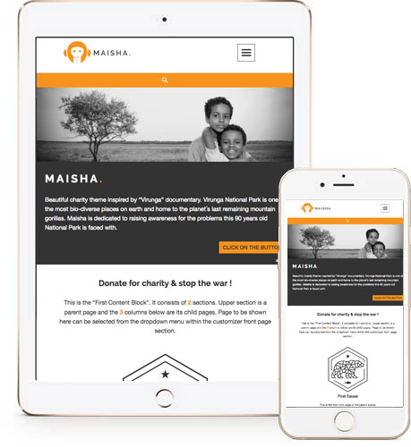 Charity WordPress theme – Maisha | Anariel Design