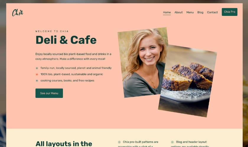 Free Deli & Cafe WordPress Theme