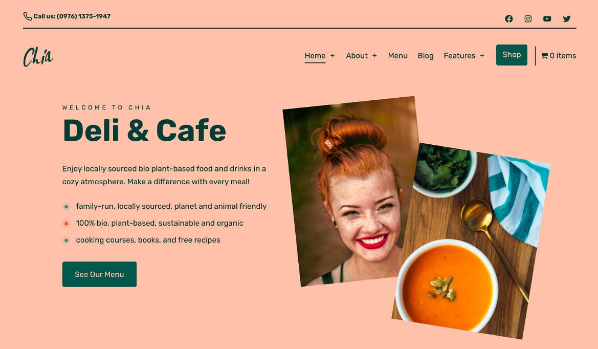 Deli & Cafe WordPress Theme