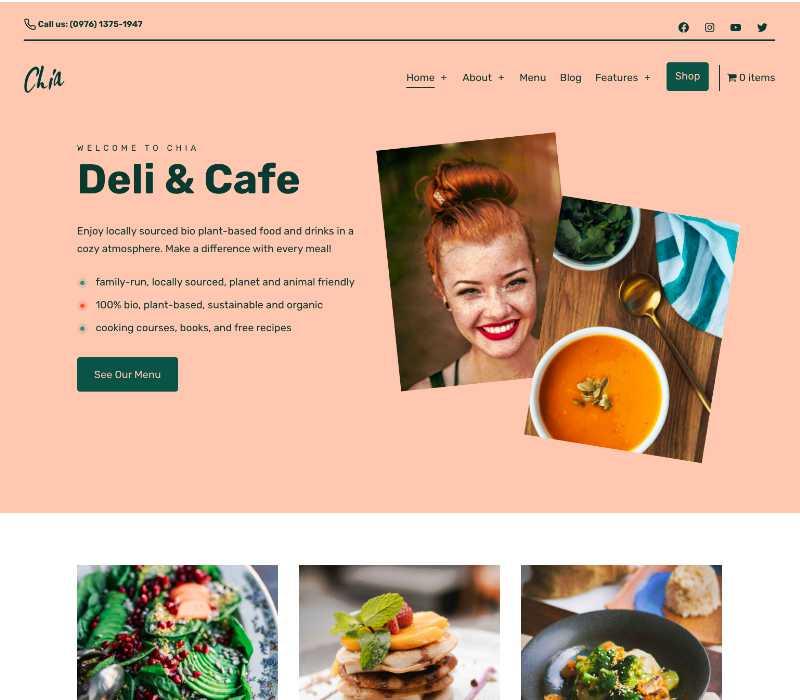 Chia WordPress Theme