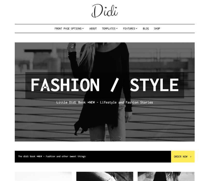 Didi Fashion WordPress Theme