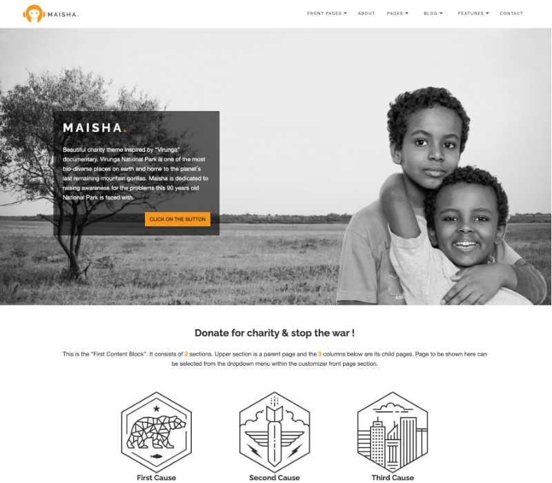 Maisha Charity WordPress Theme