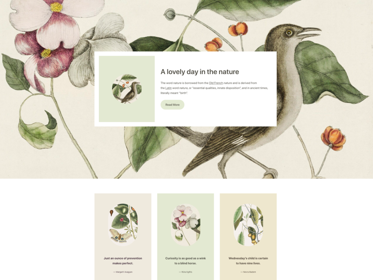 Clove Full Site Editing Theme